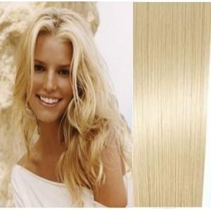 100% Brazilské vlasy MICRO RING, platinová Blond 30,40,45,50,55 a ...